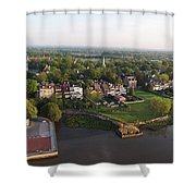 New Castle, Delaware Shower Curtain