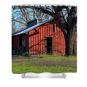 New Clairvaux Abbey Barn Shower Curtain
