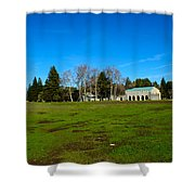 New Clairvaux Abbey Shower Curtain