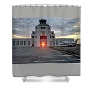 New Dawn For An Old Airport Shower Curtain