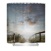 New Day At The Beach Shower Curtain