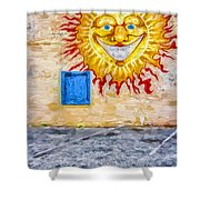 New Day Morning Wall Shower Curtain