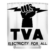 New Deal: Tva Symbol Shower Curtain
