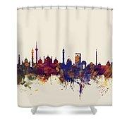 New Delhi India Skyline Shower Curtain