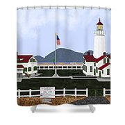 New Dungeness Lighthouse At Sequim Washington Shower Curtain