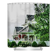 New England Beauty Shower Curtain