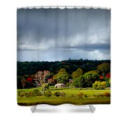 New England Countryside  Shower Curtain