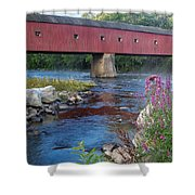 New England Covered Bridge Connecticut Shower Curtain
