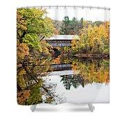 New England Covered Bridge No.63 Shower Curtain