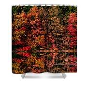 New England Fall Foliage Reflection Shower Curtain
