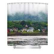 Granville Ferry Nova Scotia Canada  Fog Lifting Shower Curtain