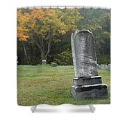 New England Graveyard During The Autumn  Shower Curtain