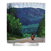 New England Journeys - Motorcycle 2 Shower Curtain