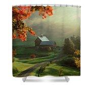 New England Landscape Shower Curtain