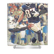 New England Patriots Rob Gronkowski 3 Shower Curtain