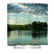 New England Scenery Shower Curtain