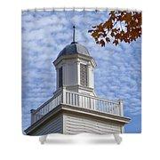 New England Steeple - Ridgefield, Connecticut Shower Curtain