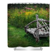 New England Summer Rustic Shower Curtain