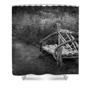 New England Summer Rustic Bw Shower Curtain