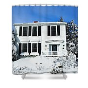 New England Winter Shower Curtain