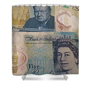 New Five Pound Notes Shower Curtain