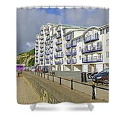 New Flats Overlooking Sandown Esplanade Shower Curtain
