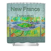New France Mug Shot Shower Curtain