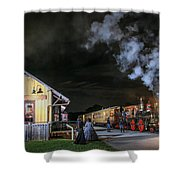 New Freedom Pa Steam Train Shower Curtain