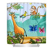 New Friends In The Jungle Shower Curtain