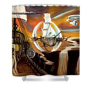 New Frontiers Shower Curtain