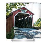 New Germantown Covered Bridge Shower Curtain