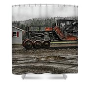 New Hampshire Central Railroad Central Office Shower Curtain