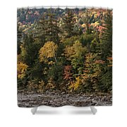 New Hampshire Color Along The Swift River Shower Curtain