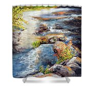 New Hampshire Creek In Fall Shower Curtain