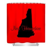 New Hampshire In Black Shower Curtain