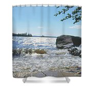 New Hampshire Lake Gale Shower Curtain