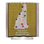 New Hampshire Loves Dogs Shower Curtain