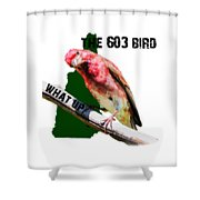 New Hampshire State Bird The Purple Finch Shower Curtain
