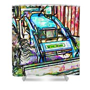 New Holland Workmaster 75 Tractor  2 Shower Curtain
