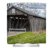 New Hope Covered Bridge  Shower Curtain