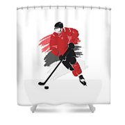 New Jersey Devils Player Shirt Shower Curtain