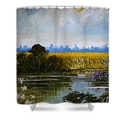 New Jersey Marsh Shower Curtain