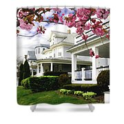 New Jersey Shore Spring Shower Curtain