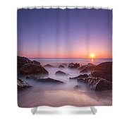 New Jersey Sunrise At Sea Girt Shower Curtain