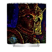 New Knight Of The King's Guard. Mask. Shower Curtain