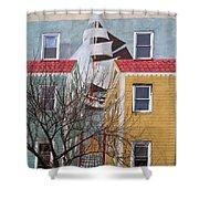 New London Art Shower Curtain