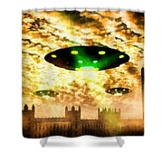 New London Government Arrives By Raphael Terra Shower Curtain