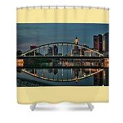 New Main Street Bridge At Dusk - Columbus, Ohio Shower Curtain