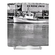 New Meadows Lobster Shower Curtain