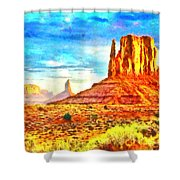 New Mexico Beautiful Desert - Pa Shower Curtain
